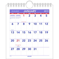 At-A-Glance Mini Monthly Wall Calendar With Easel, 6 1/2