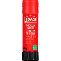 LePage Acid-Free Washable Glue Stick, Clear, 40 g