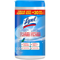 Lysol Spring Waterfall Scent Disinfecting Wipes, 110/Pack