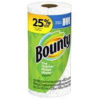 Bounty 2-Ply Select-A-Size Single Roll Paper Towels, White, 69 Sheets/RL