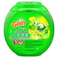 Gain 3-In-1 Flings +Aroma Boost Laundry Detergent