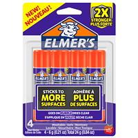 Elmer's Extra Strength Glue Sticks, 4/Pack