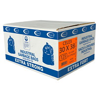 Eco II Manufacturing Inc. Black Industrial Garbage Bags, Extra Strong, 30