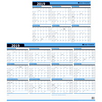 Day-Timer Flexible Dry-Erase Reversible Monthly Wall Planner Calendar, 24