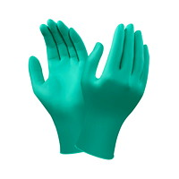 Ansell TouchNTuff Ambidextrous Large Disposable Nitrile Gloves, Teal