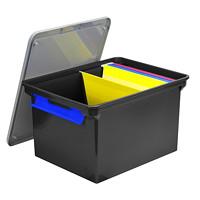 Bac portatif pour documents noir Storex