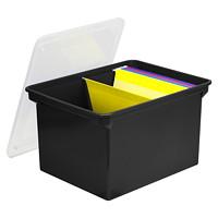 Bac pour archivage de dossiers avec prises confortables Storex