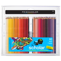 Prismacolor Scholar Coloured Pencils, Assorted Colours, 60/Pack