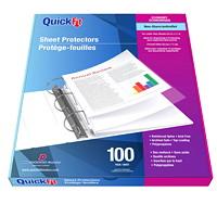 Protèges-documents économiques format lettre QuickFit Davis Group, mat, 2 mils, boîte de 100