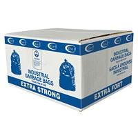 Eco II Manufacturing Inc. Extra Strong Clear Industrial Garbage Bags, 30