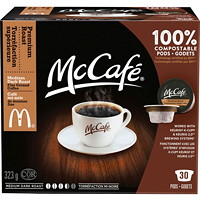 McCafé Premium Coffee K-Cup Pods, Medium Dark Roast, 30/Bx
