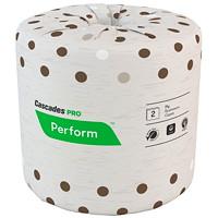 Papier hygiénique standard Perform Cascades Pro, mocha, 80 rouleaux/caisse