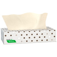 Cascades PRO Perform 2-Ply Facial Tissue, Moka, 100 Sheets/Box, 30 Boxes/CS