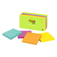 Feuillets Post-it, collection Jaipur, non lignés, 3 po x 3 po, blocs de 100 feuillets, emb. de 14