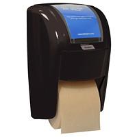 Distributeur de papier hygiénique haute capacité X2 à deux rouleaux Cascades PRO Tandem, noir