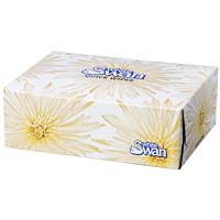 Papiers-mouchoirs 2 épaisseurs White Swan, boîte de 80