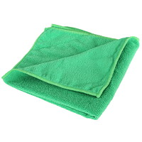Globe Commercial Products Microfibre Cloths, Green, 14