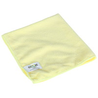 Globe Commercial Products Microfibre Cloths, Yellow, 14