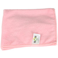 Globe Commercial Products Microfibre Cloths, Pink, 14