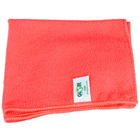 Globe Commercial Products Microfibre Cloths, Red, 16