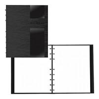 Journal pointillé NotePro Blueline, collection Lux, noir, 91/4po x 71/4po, anglais
