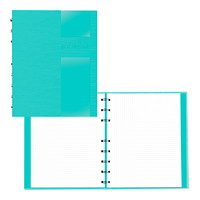 Blueline NotePro Dotted Journal, Aqua, Lux Collection, 9 1/4