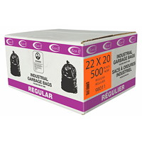 Eco II Manufacturing Inc. Black Industrial Garbage Bags, Regular, 22