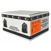 Eco II Manufacturing Inc. Black Industrial Garbage Bags, Regular, 30