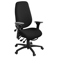 ergoCentric geoCentric Multi-Tilt Extra-Tall High-Back Chair, Black