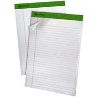 Blocs-notes en papier recyclé Ampad Earthwise, 81/2po x 113/4po, lignés, 40 feuilles/bloc, emb. de 4