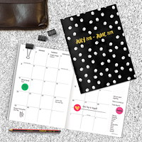 TF Publishing Dots Monthly Planner, 7 1/2