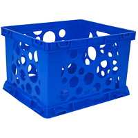 Storex 7 L Premium Blue Mini Crate