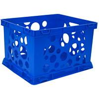 Caisse à claire-voie de classement de qualité Storex, bleu, 7l, format miniature