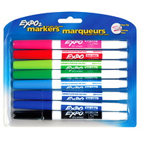 Expo Low-Odour Dry-Erase Marker - Fine Tip, 8/Pk