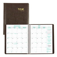 Blueline EcoLogix Monthly Planner, 8 7/8