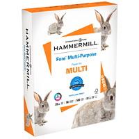 Papier à usages multiples Fore Hammermill, certifié FSC, 20 lb, 81/2po x 11po, caisse