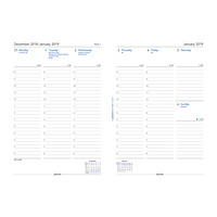 Filofax Weekly A5-Size Planner Refill, 5 3/4