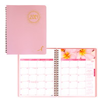 Blueline Pink Ribbon Monthly Planner, 8 7/8