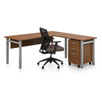 Offices To Go Ionic L-Shaped Suite, Winter Cherry