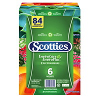 Scotties 2-Ply EnviroCare Facial Tissue, White, 140 Sheets/BX, 6/PK