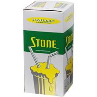 Pailles blanches biodégradables Stone