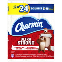 Charmin 2-Ply Ultra Strong Bathroom Tissue 12=24, White, 143 Sheets/Roll, 12/PK