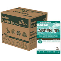 Boise Aspen 30 Multi-Use Recycled Copy Paper, FSC Certified, 20 lb., White, Letter-size (8 1/2