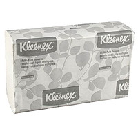 Kleenex 1-Ply Multifold Hand Paper Towels, White, 150 Sheets/PK, 8/CT