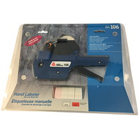 Avery Model 106 1-Line Mechanical Handheld Labeler Starter Kit