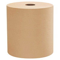 Scott 1-Ply Essential Hard Roll Hand Paper Towels, Natural, 800', 12/CS