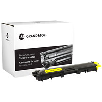 Grand & Toy Remanufactured Brother TN221 Yellow Standard Yield Toner Cartridge (TN221Y)