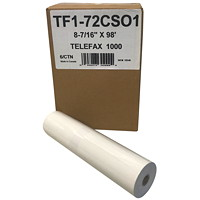 McDermid Thermal Telefax 1000 Paper Rolls, Extra-White, 8 1/2