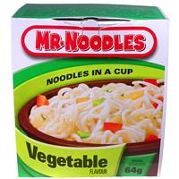 Mr. Noodles Instant Noodles in a Cup, Vegetable Flavour, 64 g, 12/CT