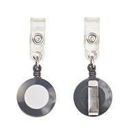 GBC Grey Retractable Lanyard Badge Reels, Box of 25